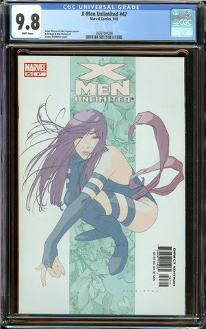 Unlimited X-men #47 CGC 9.8 White Pages - Joshua Middleton Psylocke Cover
