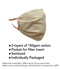 Load image into Gallery viewer, Adult Fabric Mask-Off White