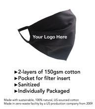 Load image into Gallery viewer, Adult Fabric Mask-Custom Logo