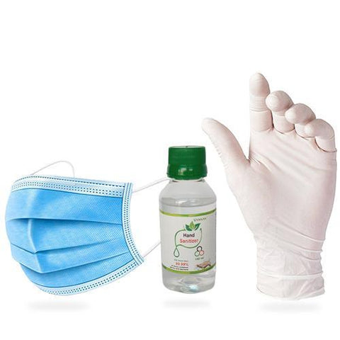 Vansan's 100 ml Hand gel with 3 Ply and Palm Cover