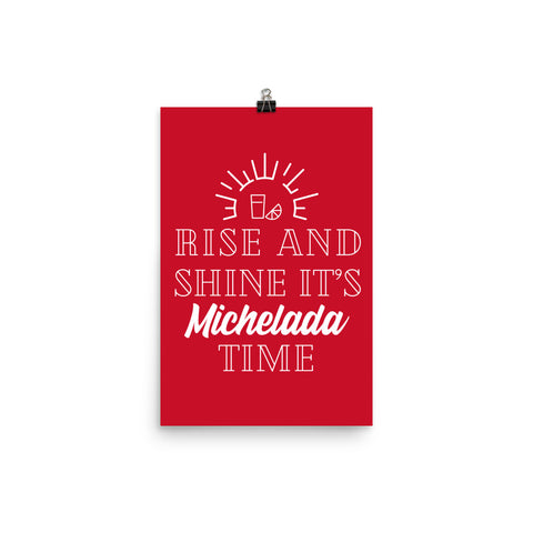 Rise and Shine Unframed Poster - Michelada Merch from Michelada Map