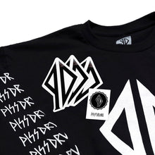 Load image into Gallery viewer, PISSDRUNX- Logo Full Sleeve L/S Tee BLK