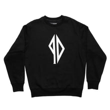 Load image into Gallery viewer, PISSDRUNX- LOGO Crewneck BLK/WHT