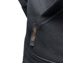 Load image into Gallery viewer, PISSDRUNX- Embroidered Logo BLK/GOLD HOODIE (sleeve detail)
