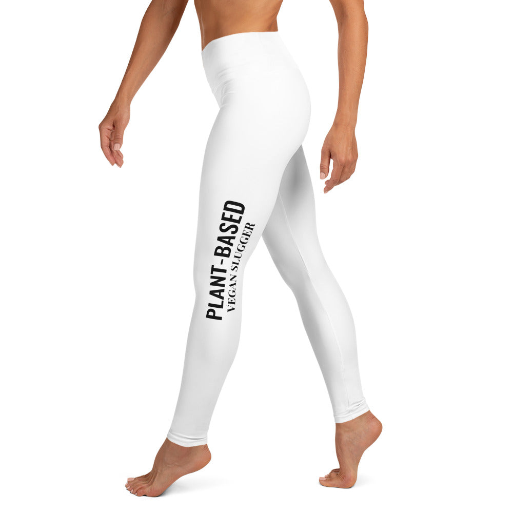 Plant-Based Yoga Leggings White Vegan Slugger