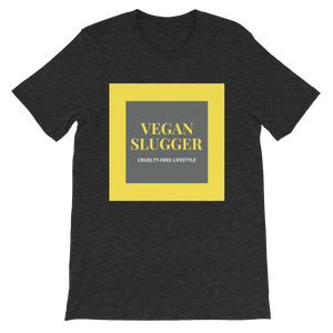 Classic Double Square Dark Heather T-Shirt Vegan Slugger