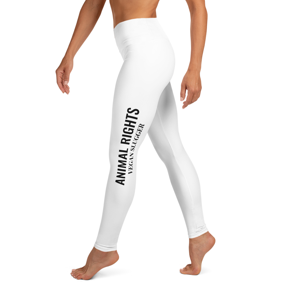 Animal Rights Yoga Leggings White Vegan Slugger