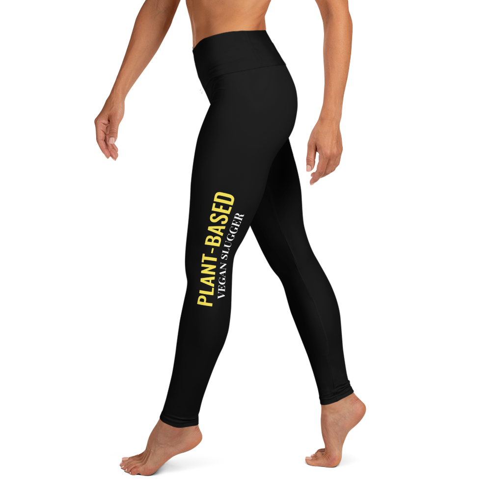 Plant-Based Yoga Leggings Black Vegan Slugger