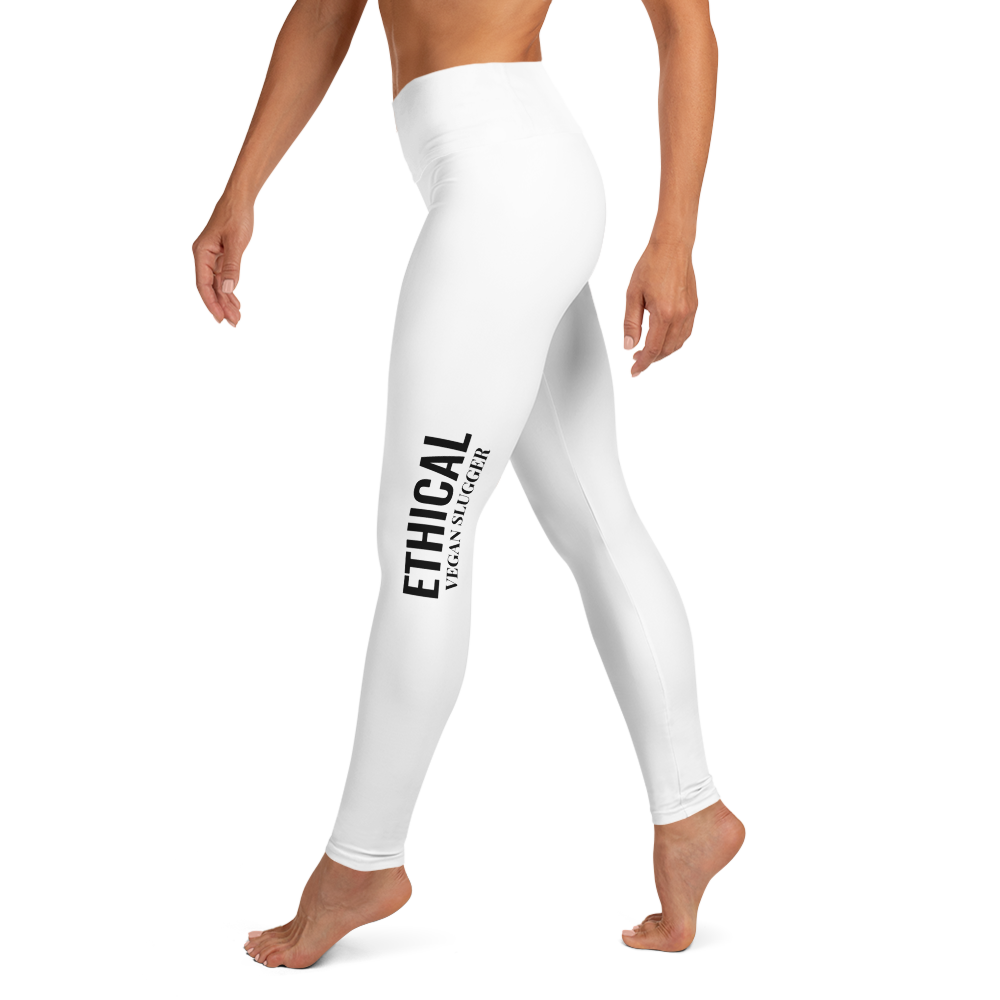 Ethical Yoga Leggings White Vegan Slugger