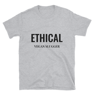 Ethical T-Shirt Grey Vegan Slugger