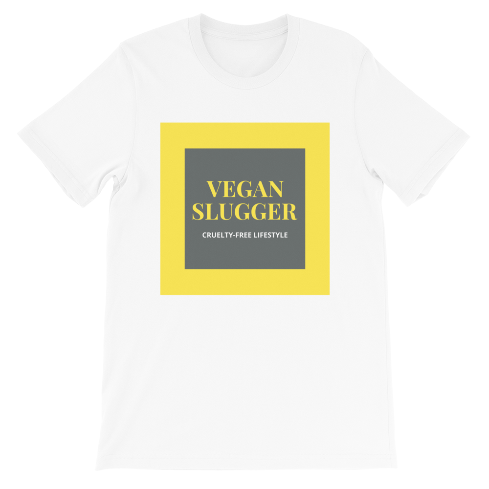 Classic Double Square White T-Shirt Vegan Slugger
