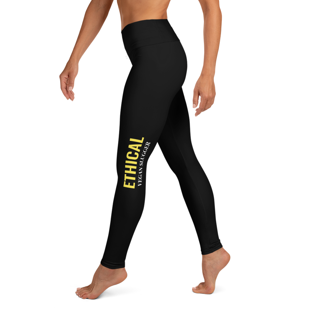 Ethical Yoga Leggings Black Vegan Slugger