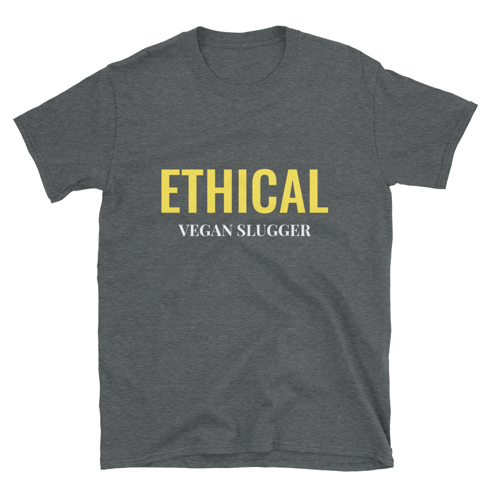 Ethical T-Shirt Dark Heather Vegan Slugger