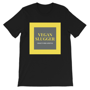 Classic Double Square Black T-Shirt Vegan Slugger