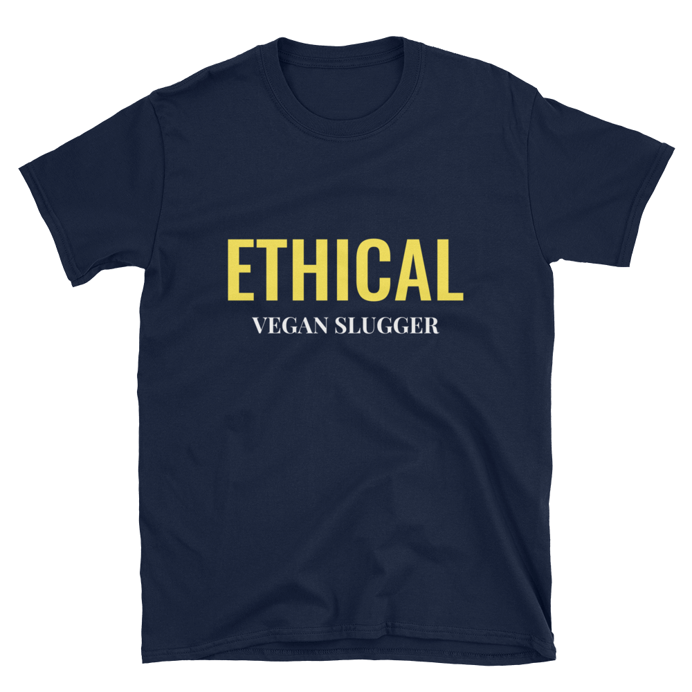Ethical T-Shirt Navy Vegan Slugger