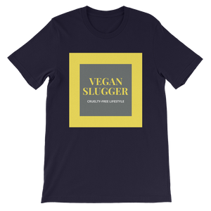 Classic Double Square Navy T-Shirt Vegan Slugger
