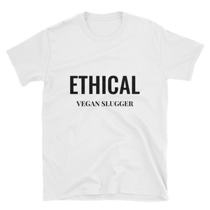 Ethical T-Shirt White Vegan Slugger