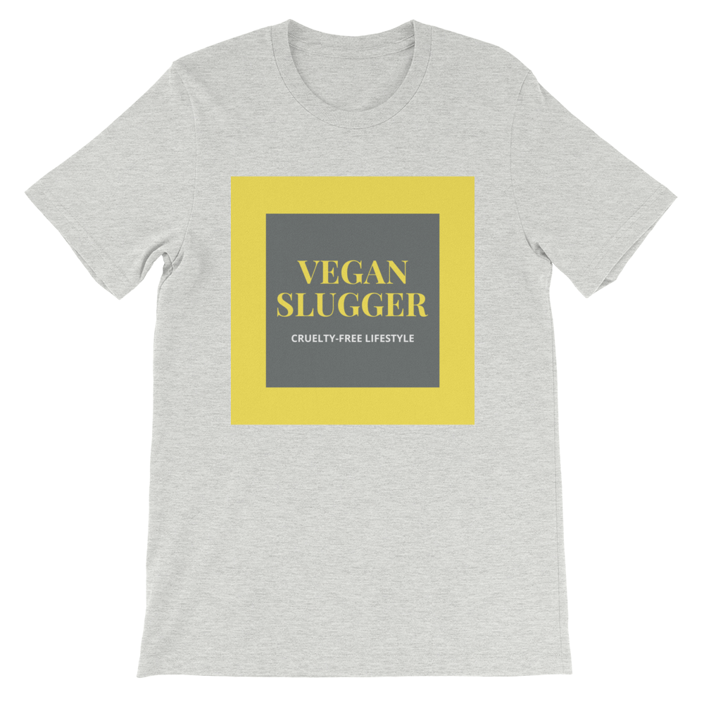 Classic Double Square Grey T-Shirt Vegan Slugger