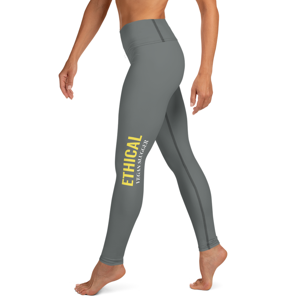 Ethical Yoga Leggings Grey Vegan Slugger