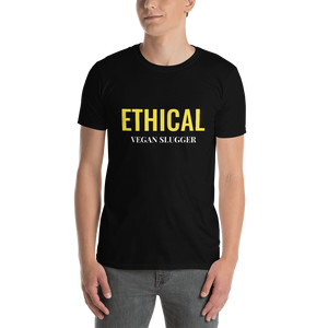 Ethical T-Shirt Black Vegan Slugger