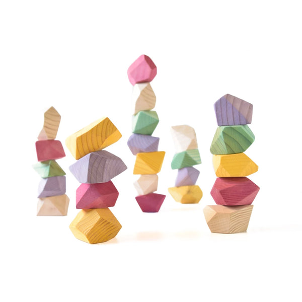 Rock Blocks (24 set bright color)