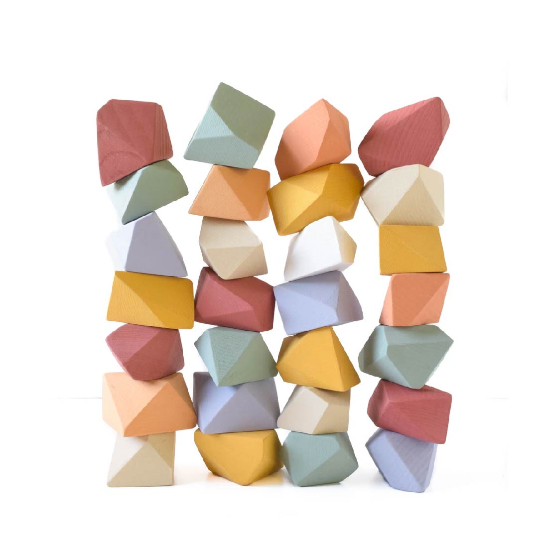 Rock blocks (16 set matte rainbow)