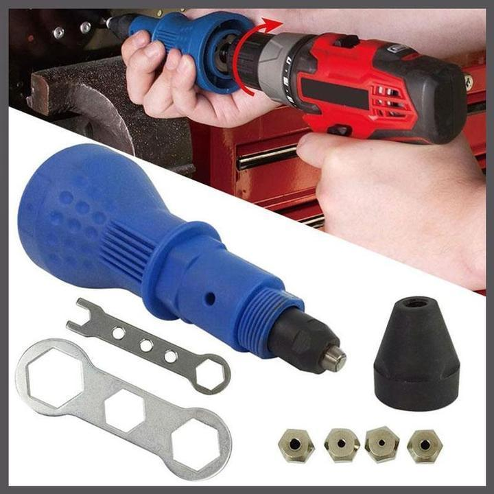 50% off +FREE SHIPPING Detachable Rivet Gun Drill Adapter