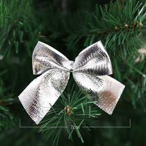 12 beautiful golden bows Christmas ornaments tree decorations party bows baubles New Year Christmas Christmas decorations for home