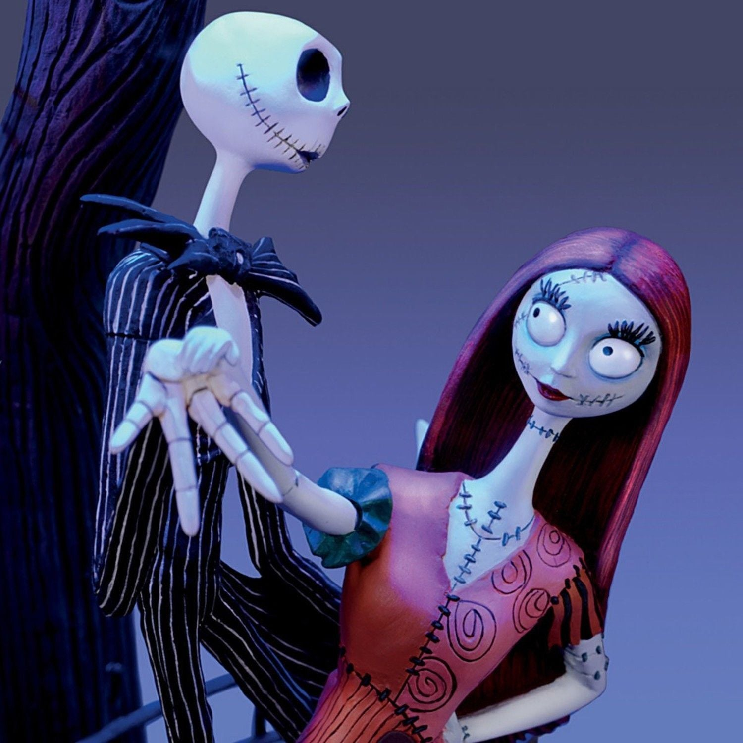 The Nightmare Before Christmas Moonlight Table Lamp With Jack, Sally And Zero