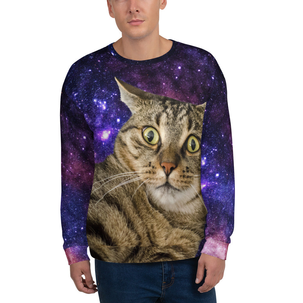 Shocked Space Cat Unisex Sweatshirt