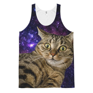 Shocked Space Cat Mens Tank