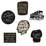 Funny Letter Quote Pins