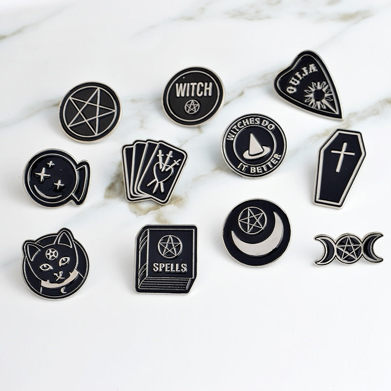 Witch, Please Enamel Pins