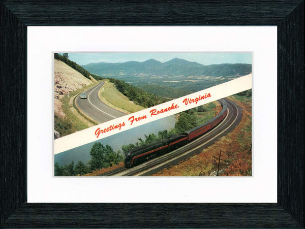 Vintage Postcard Front - Greetings from Roanoke