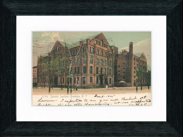 Vintage Postcard Front - Adelphi Institute Brooklyn