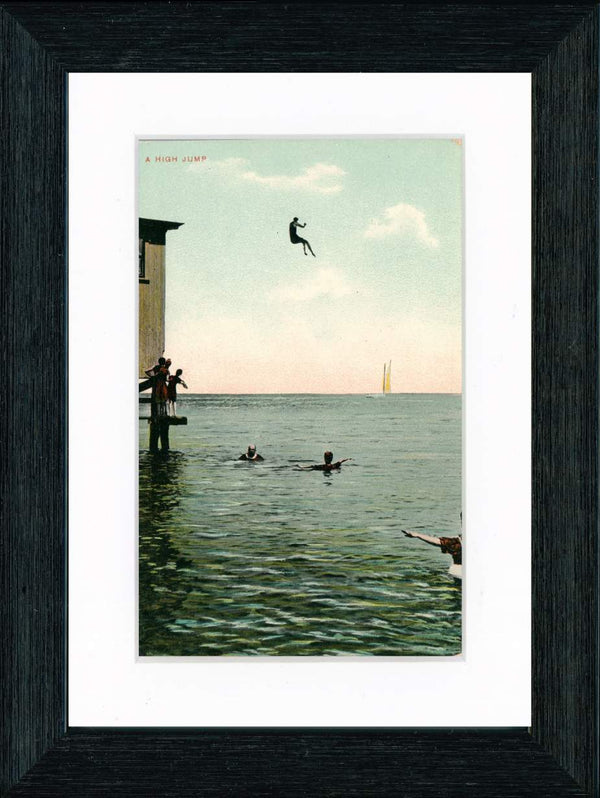 "Vintage Postcard Front - ""High Jump"" Martha's Vineyard"