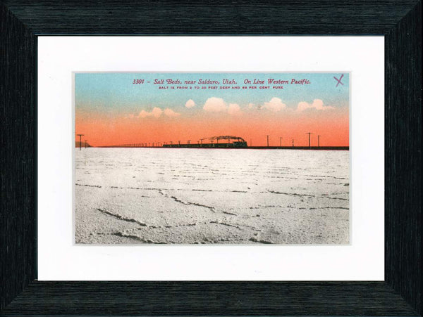 Vintage Postcard Front - Great Salt Lake Railroad
