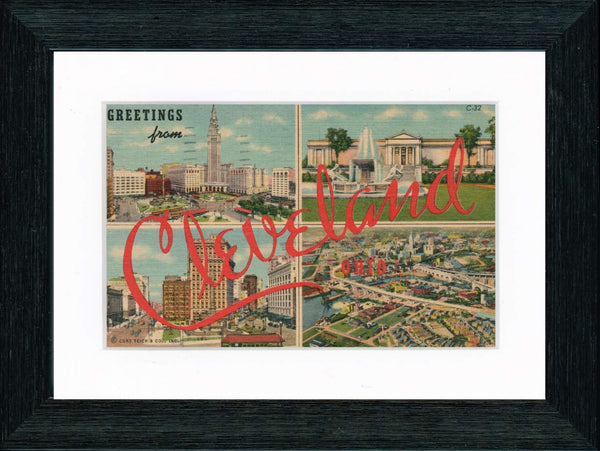 Vintage Postcard Front - Greetings from Cleveland