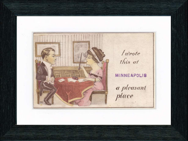 "Vintage Postcard Front - Minneapolis ""A Pleasant Place"""