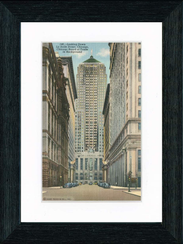 Vintage Postcard Front - Chicago Board of Trade