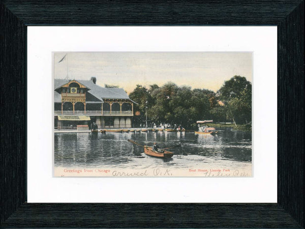 Vintage Postcard Front - Lincoln Park Boat House—Chicago