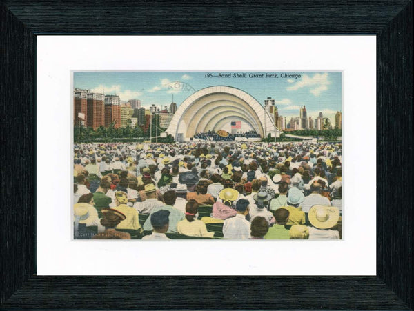 Vintage Postcard Front - Chicago Grant Park Band Shell