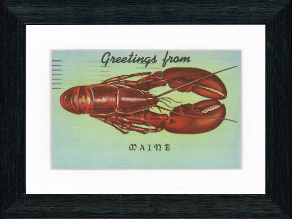 Vintage Postcard Front - Maine Lobster