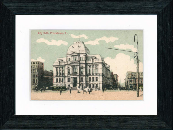 Vintage Postcard Front - Providence City Hall