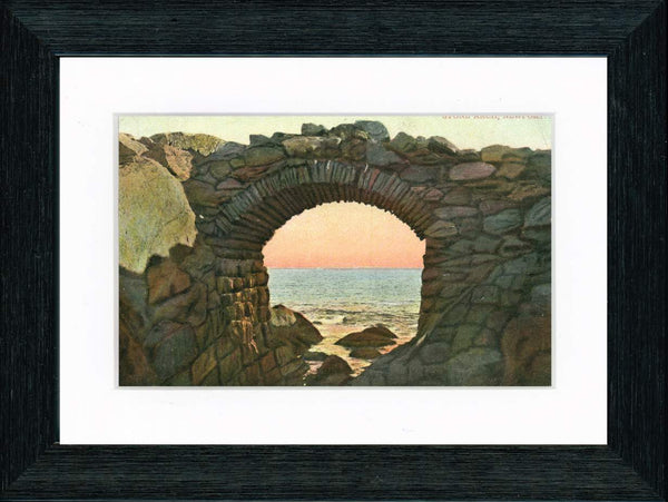 Vintage Postcard Front - Newport Stone Arch