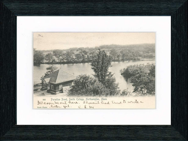 Vintage Postcard Front - Smith College Paradise Pond