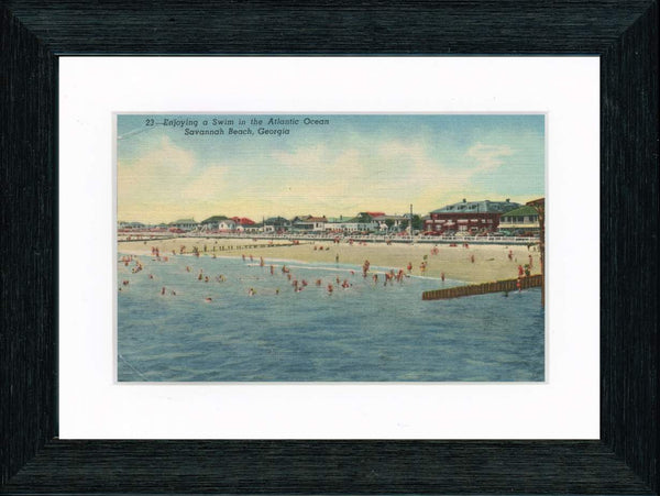 Vintage Postcard Front - Savannah Beach
