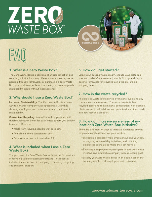 Zero Waste Box FAQ