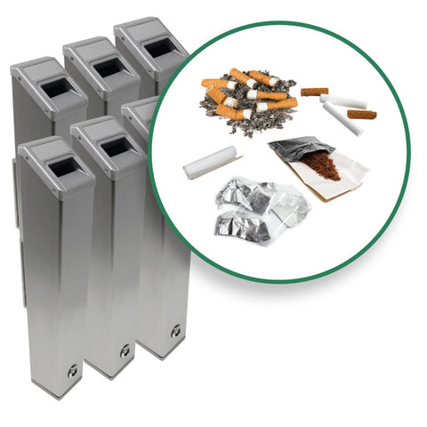 Cigarette Receptacles (6-Pack)