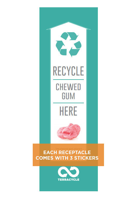 Used Chewing Gum Receptacle